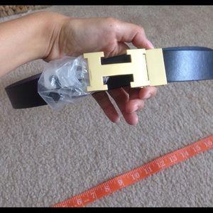 "Other - Reversible ""h"" belt - never worn"
